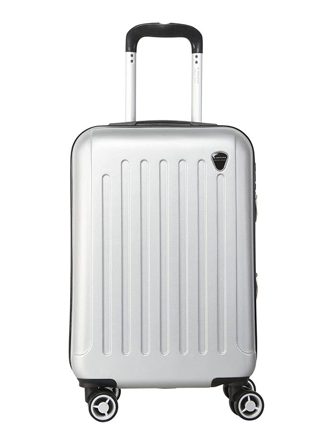 Giordano Polycarbonate 20 cms Silver Hardsided Check-in Luggage (ABS917-SL20)