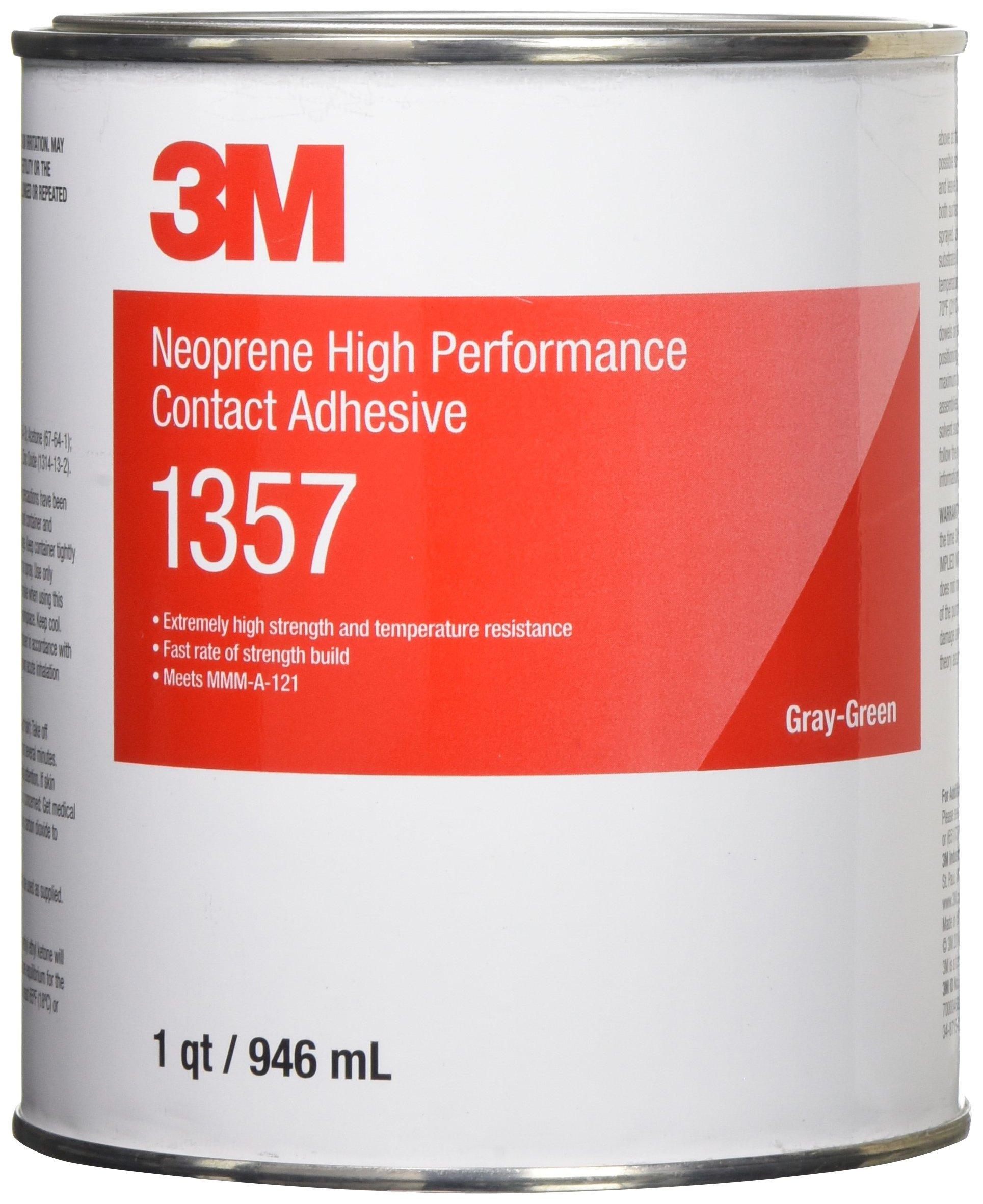 3M(TM) Neoprene High Performance Contact Adhesive 1357 Gray-Green, 1 Quart