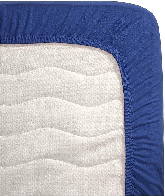 Hema sábana bajera ajustable, 100 % algodón, azul, 90 x 200 ...