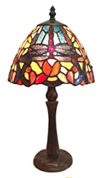 Fine Art Lighting Tiffany Table Lamp, 8 by 15-Inch, 249 Glass Cuts