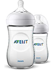 Philips Avent SCF033/27 - Biberón natural de 260 ml, transparente