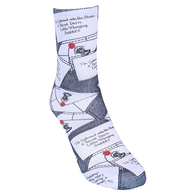 1 x Calcetines grises cartas de HARRY POTTER: Amazon.es ...