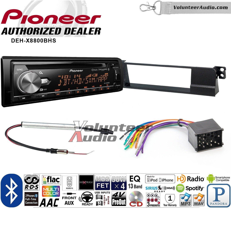 ボランティアオーディオパイオニアdeh-x8800bhsダブルDINラジオインストールキットwith Bluetooth、HDラジオ、Siruis XM準備、USB/AUX Fits 2002 – 2005 BMW 325 Ci, 325 x i, 330i, and 330 X i B07D3FWQH7