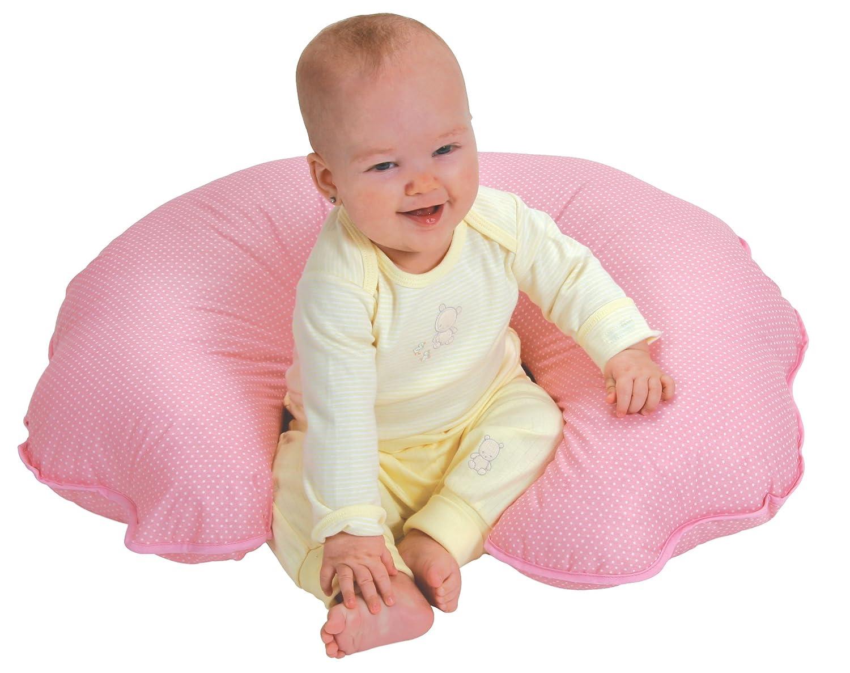 Leachco Cuddle-U Basic Nursing Pillow and More Pink Pin Dot