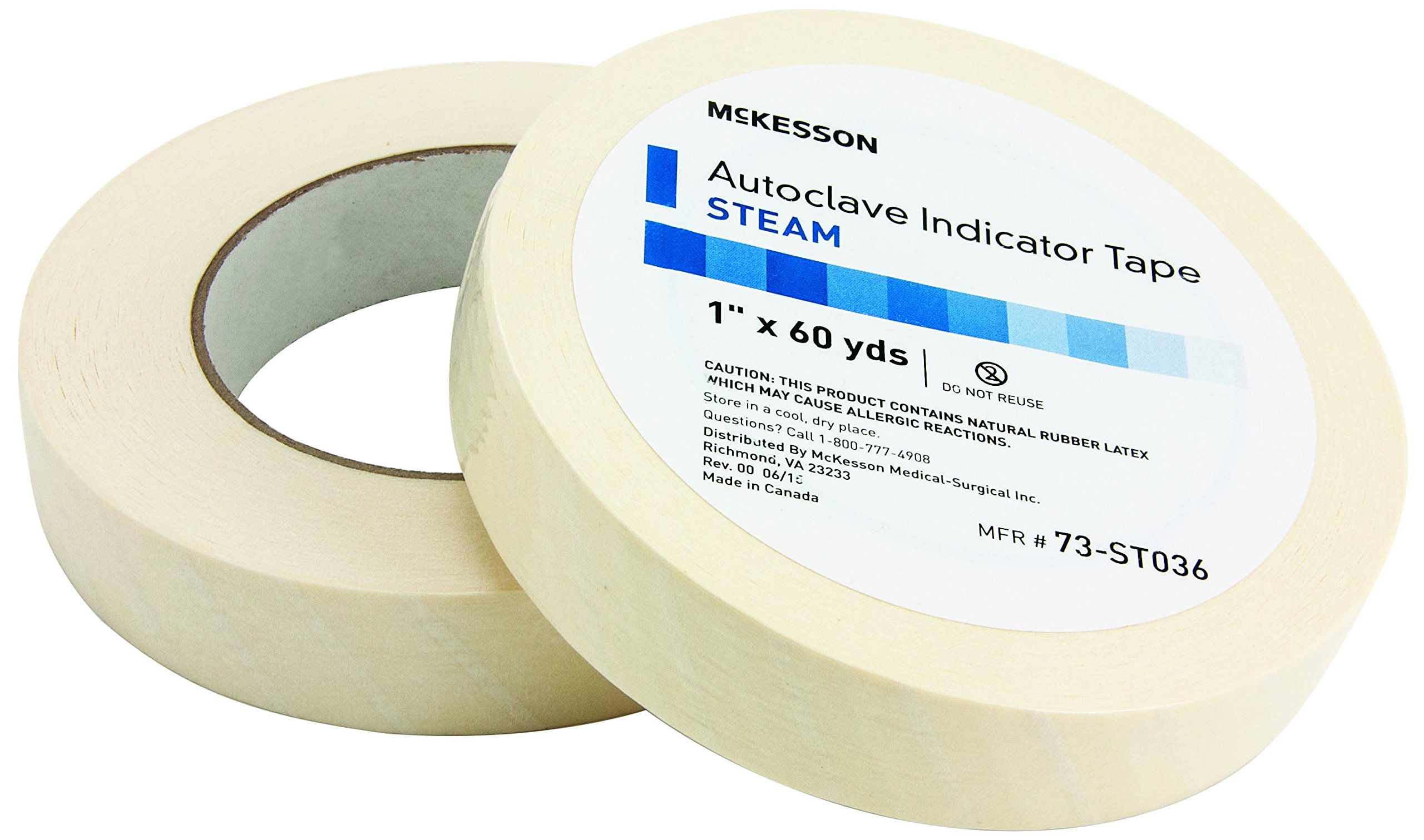 McKesson 73-ST036 Steam Tape, 1'' Width, 60 yd. Length, 1'' Width (Pack of 18)