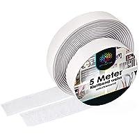 iLP Klittenband zelfklevend wit - 5 meter lijm klittenband om te naaien - klittenband zelfklevend 20 mm breed - extra…