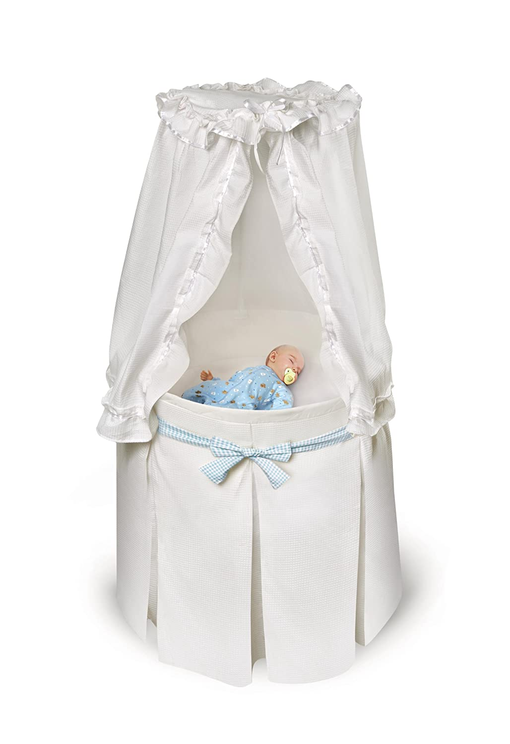 Pad and Storage Empress Round Baby Bassinet with Bedding