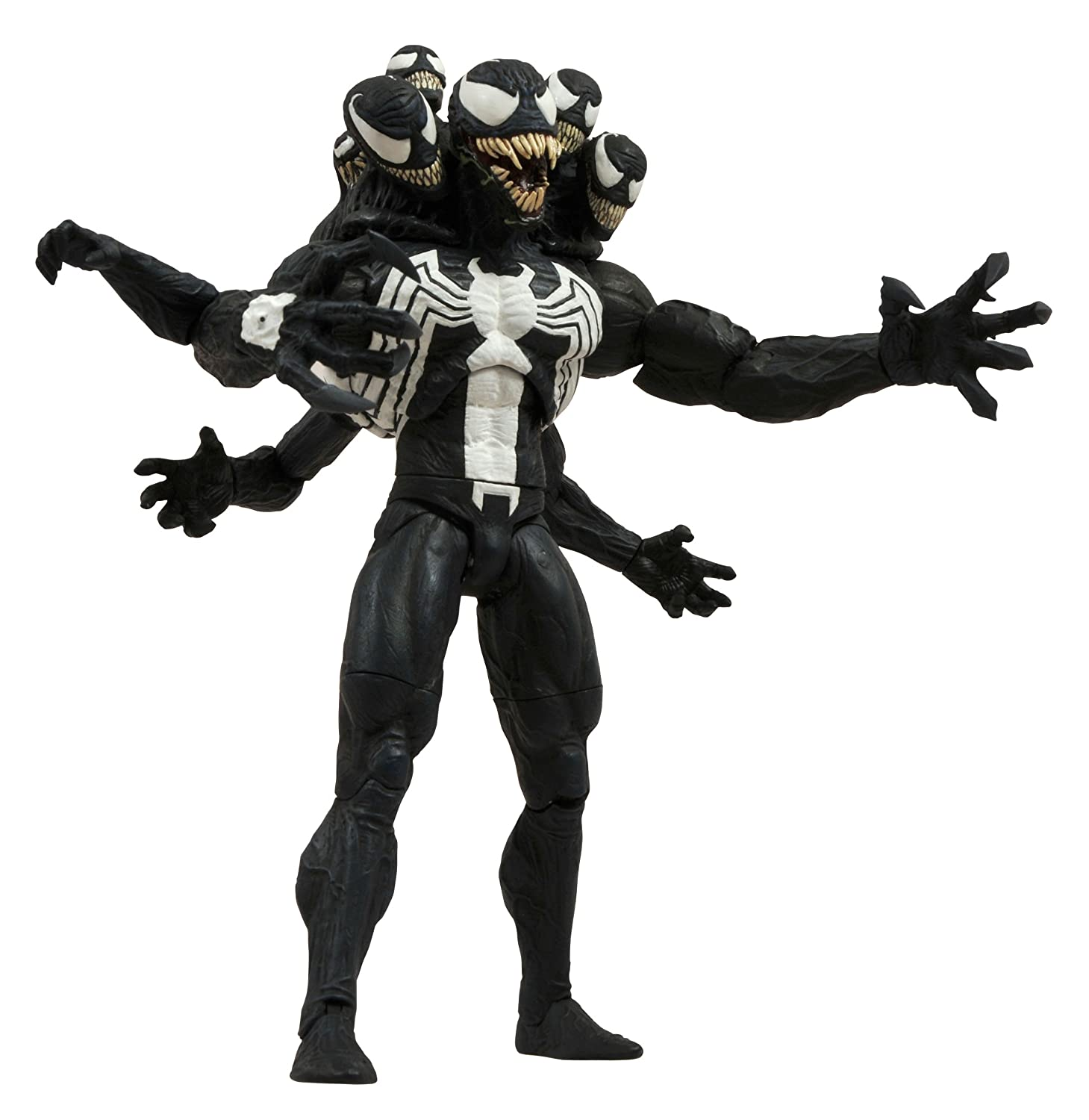"Marvel Select Venom 8"" ""Action Figure Collectible Toy 9 Heads 4 Heads Edition"