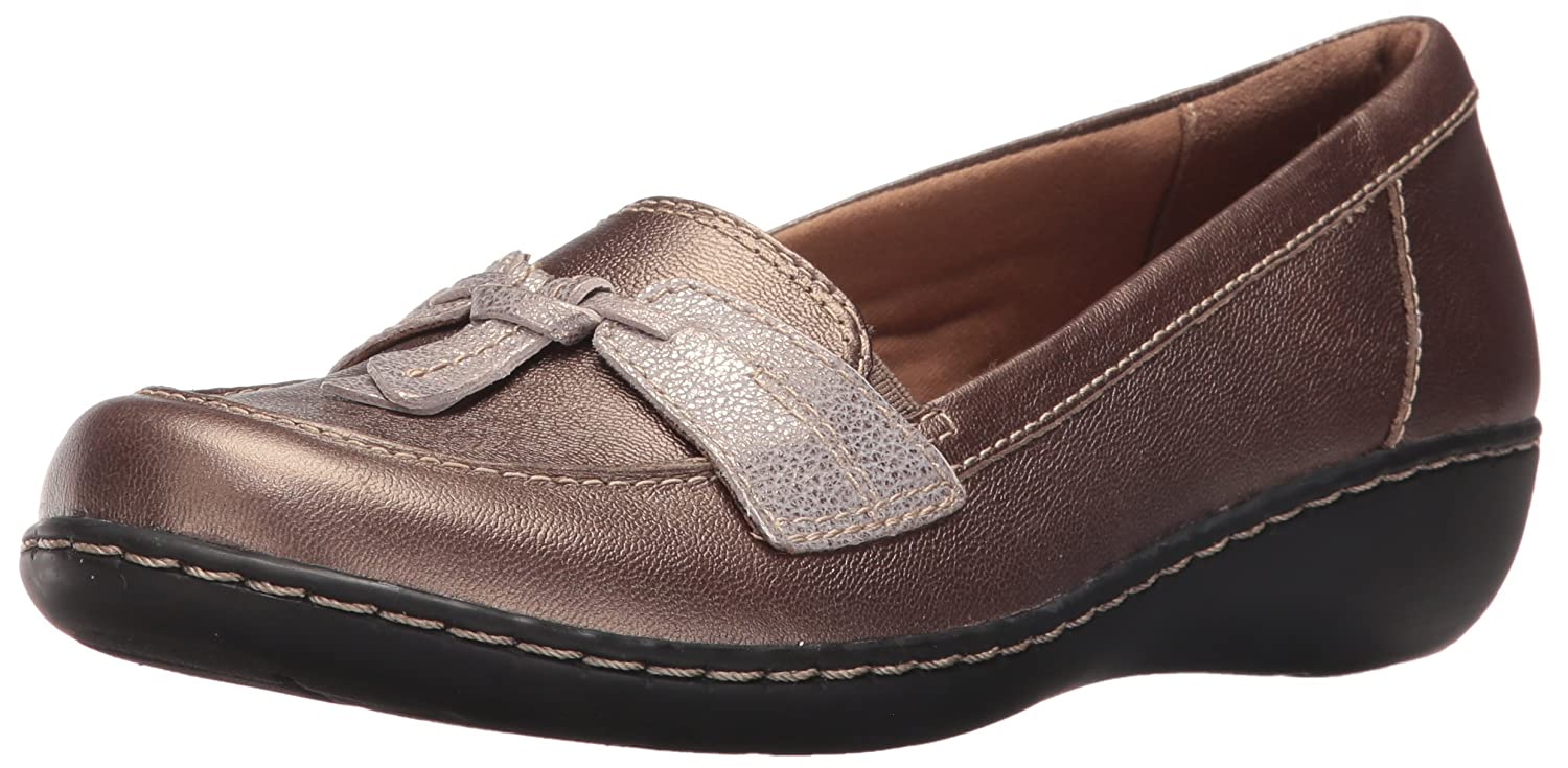 CLARKS Womens Loafers B019M4ASHY 5 B(M) US|メタリック メタリック 5 B(M) US