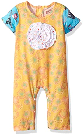 8715e58dfce Amazon.com  Jelly the Pug Baby Girls  Anna Romper  Clothing