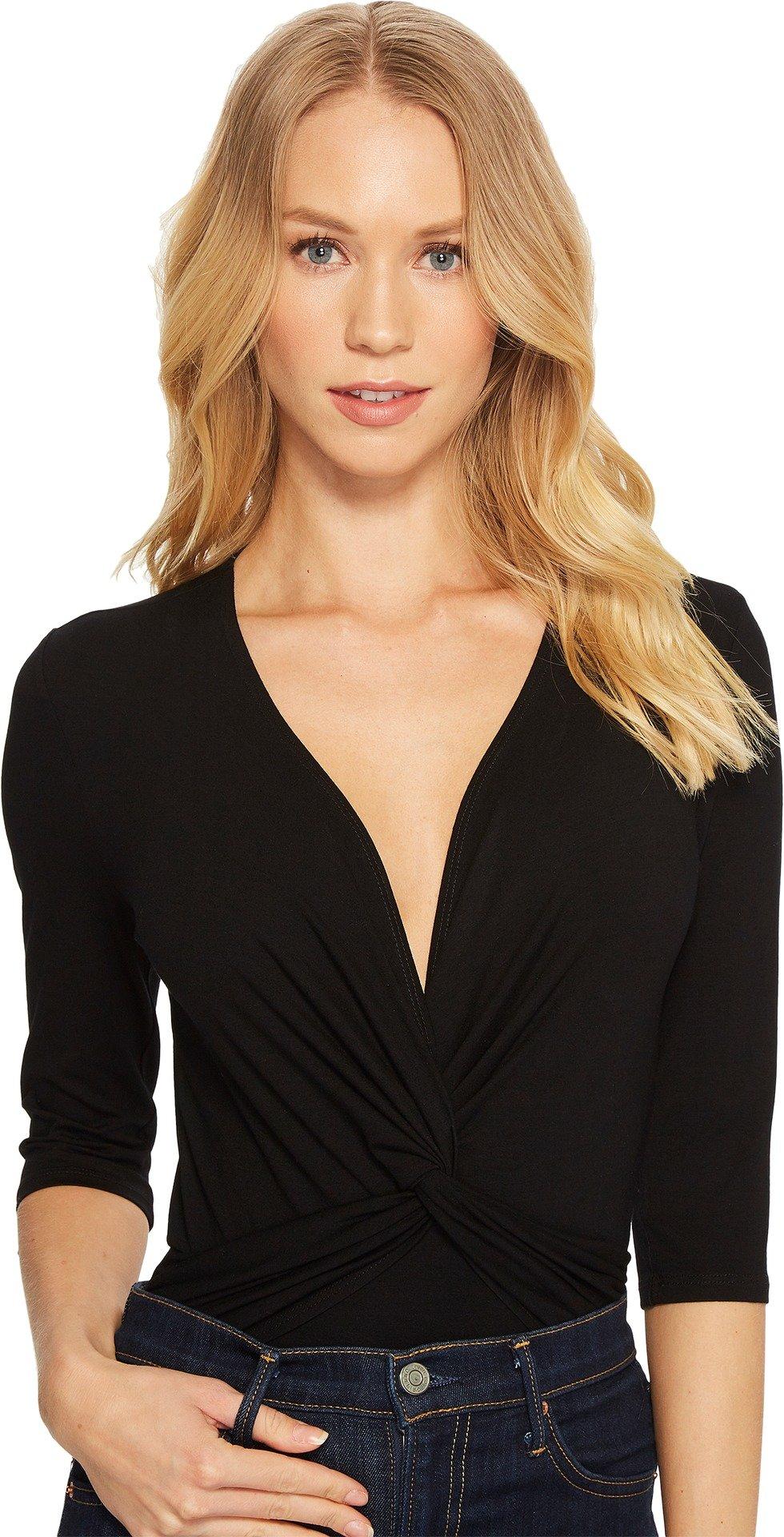 Only Hearts Women's So Fine Wrap Bodysuit Black Small