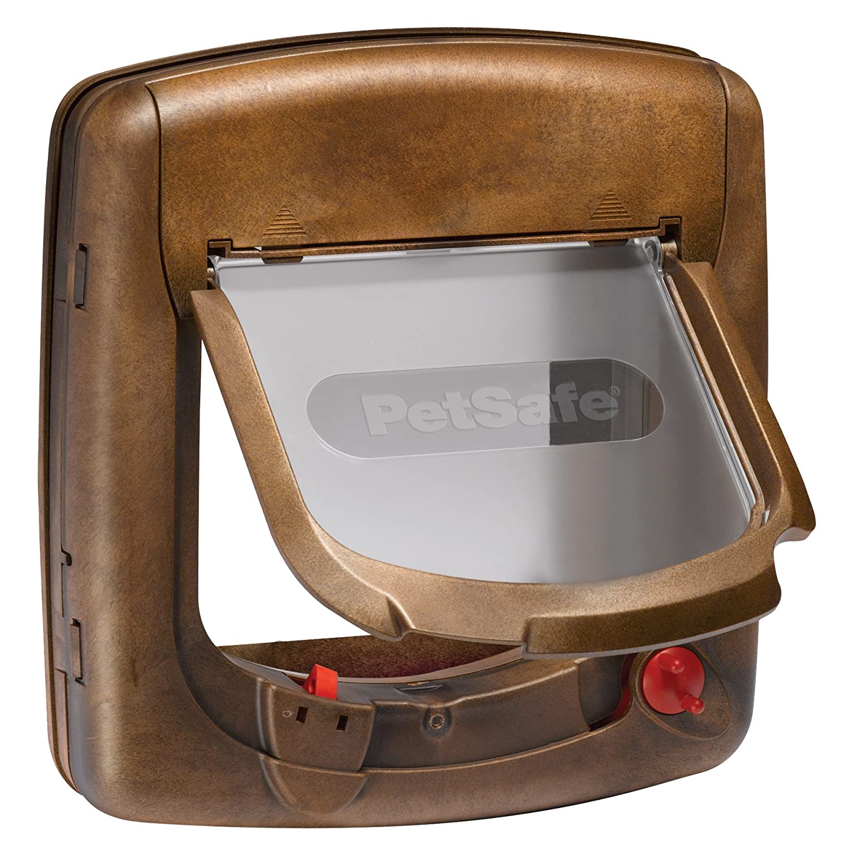 PetSafe StayWell deluxe Magnetisch Katzenklappe weiß - Serie 400 Rosewood 400EF
