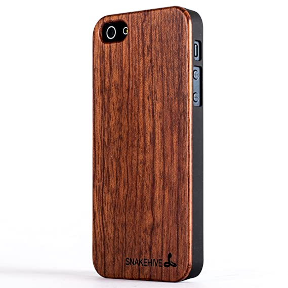 super popular 61f68 1c90e Snakehive iPhone 5 / 5s Wooden Back Case Cover for iPhone 5 / 5s ...