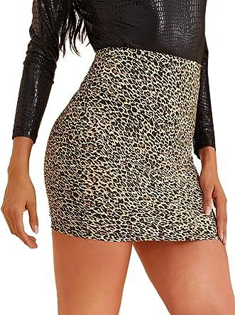 Popular Women/'s Summer Casual Mini Dress Sleeveless Leopard Print Pencil