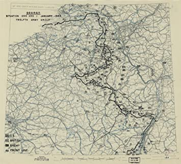 Amazon.com: Vintage 1944 Map of October 25, 1944], HQ Twelfth Army ...