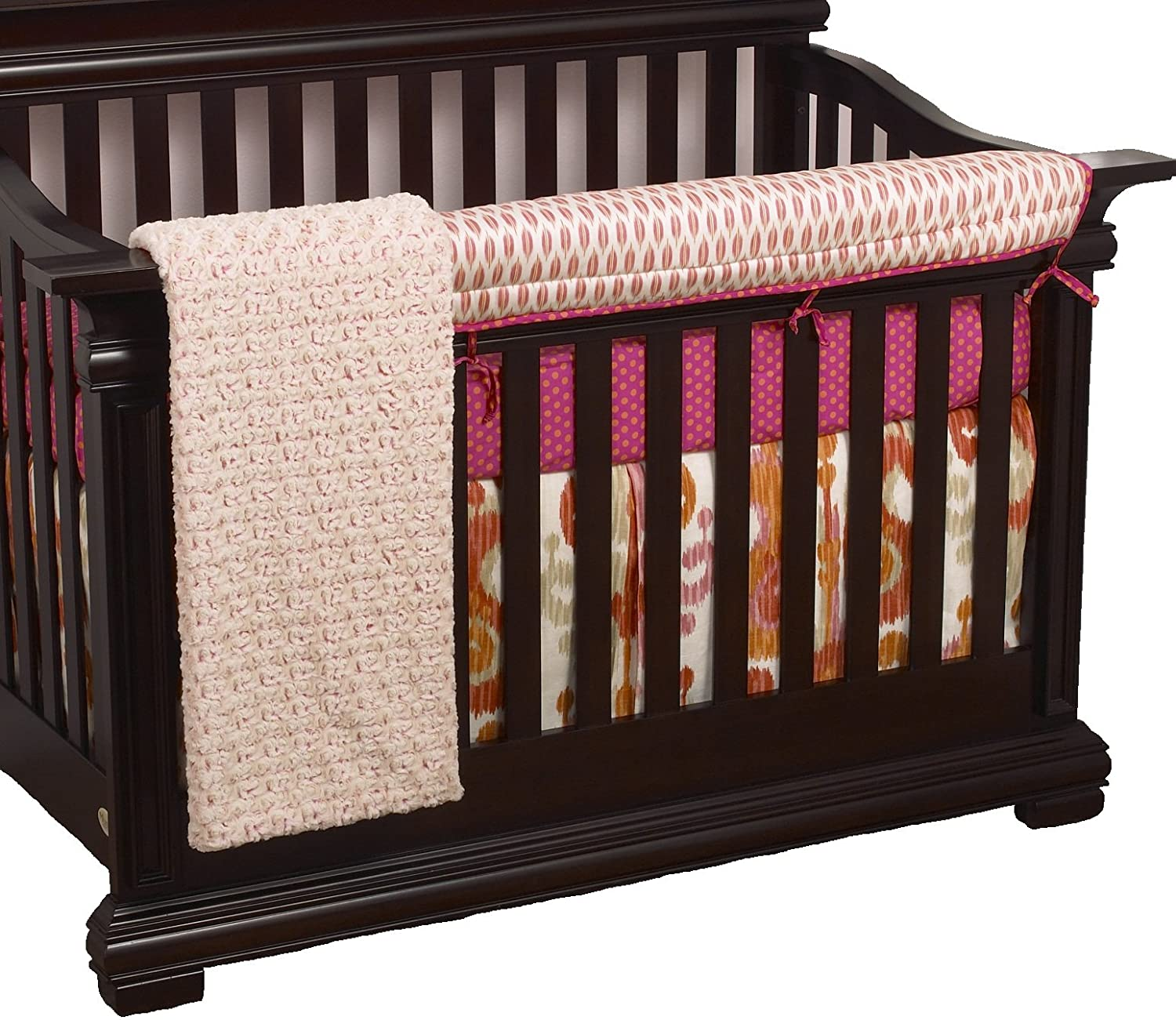 Cotton Tale Designs Front Crib Rail Cover Up Crib Bedding Set, Sundance SN4F