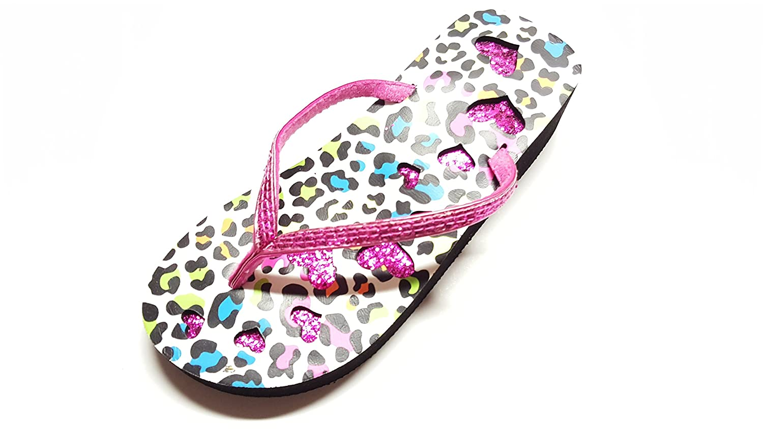 Epic Step Animal Print Footbed with Heart Shapes