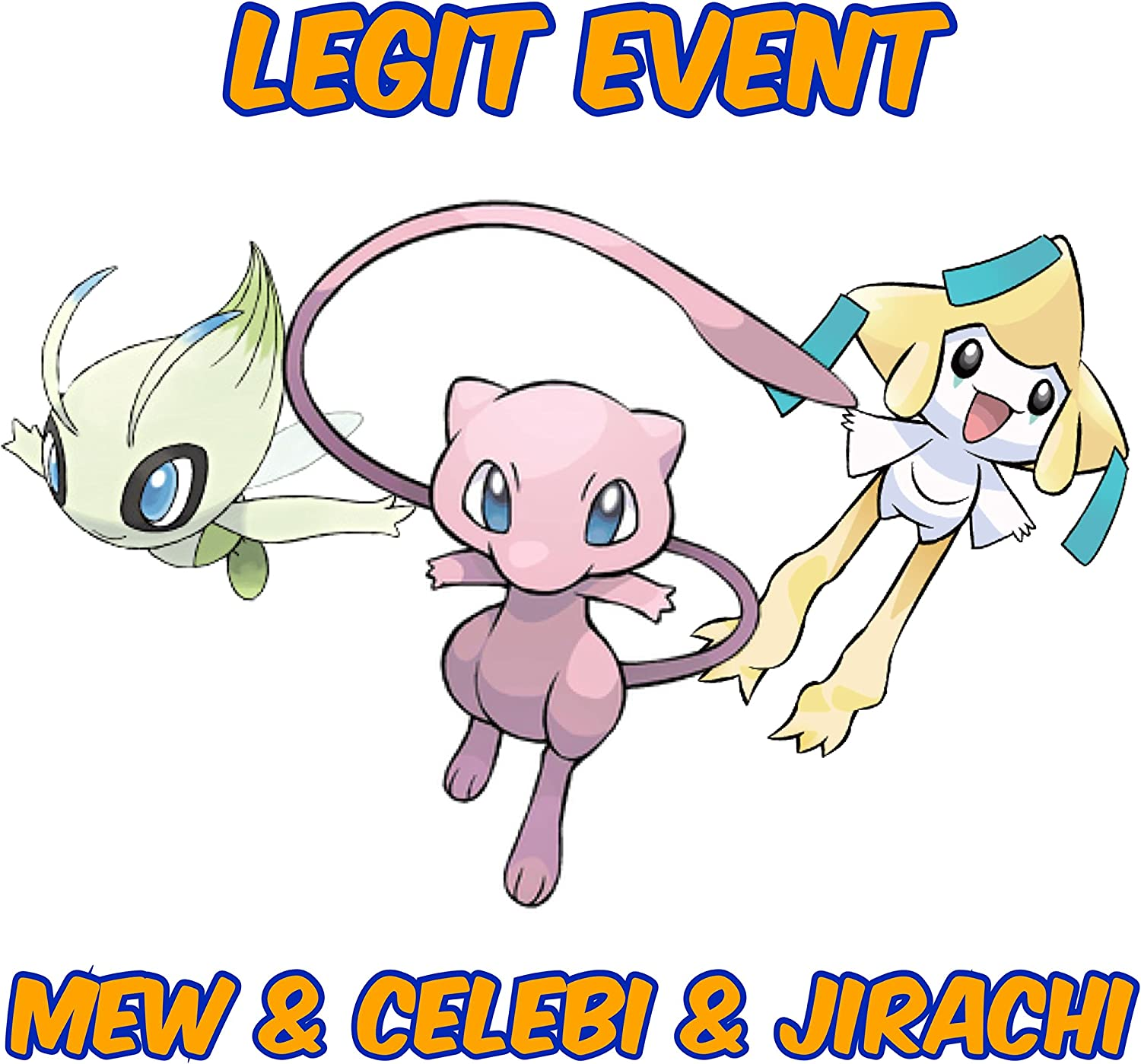Amazon com: Legit Event Mew Celebi & Jirachi: Video Games