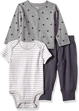 Amazon Essentials - Conjunto de 3 piezas con  cárdigan para bebé