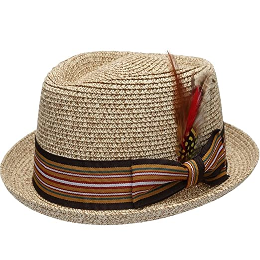11374b41b7a Men s Premium Straw Porkpie Fedora Hat (S M
