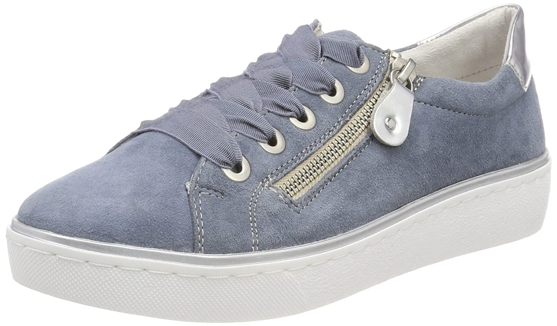 Remonte R5501, Zapatillas para Mujer 36 EU|Azul (Bleu/Argento)