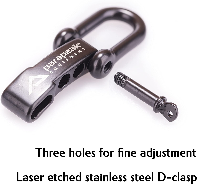 Cobra Style with Adjustable Stainless Steel D-Clasp Military Spec Paracord Parapeak Survival Bracelet
