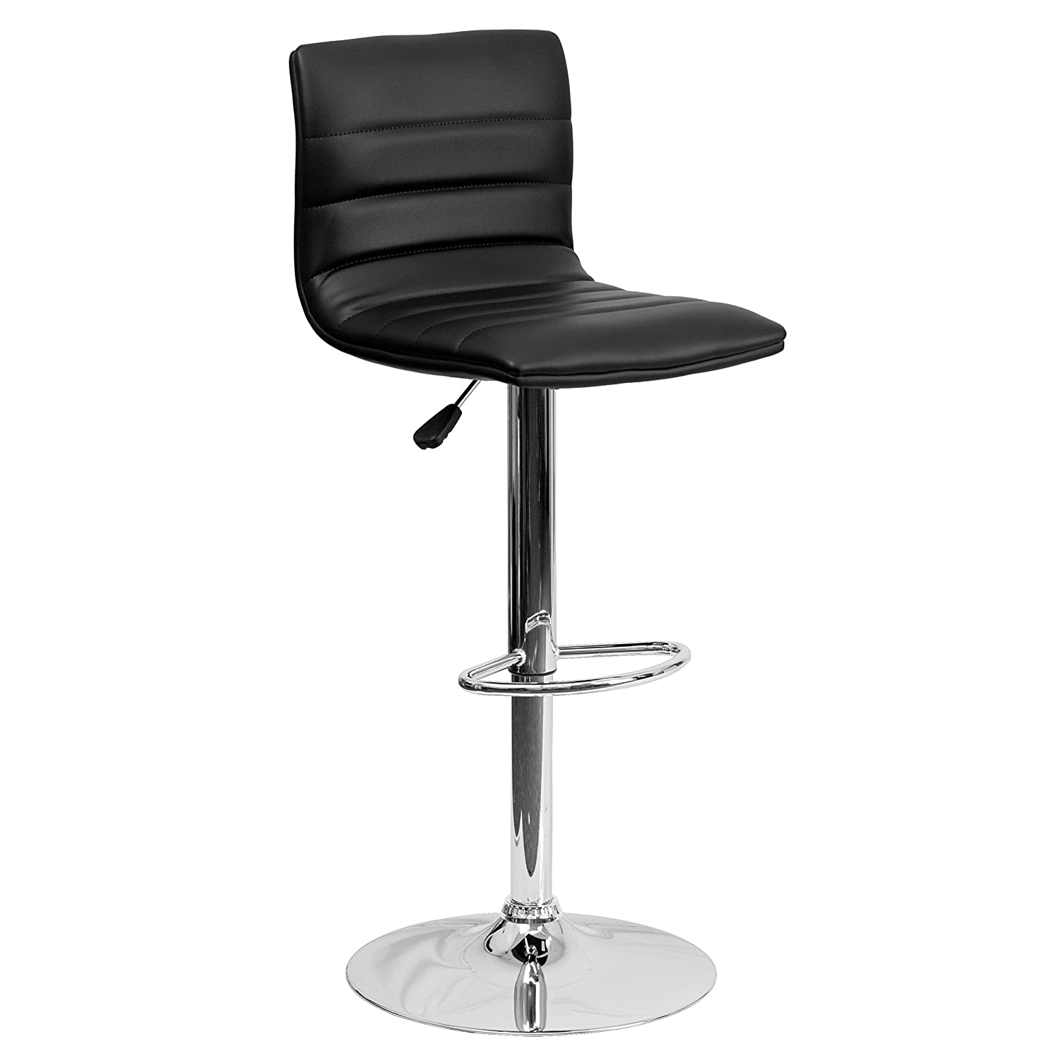 modern swivel bar stools. Amazon.com: Flash Furniture Contemporary Black Vinyl Adjustable Height Barstool With Chrome Base: Kitchen \u0026 Dining Modern Swivel Bar Stools S