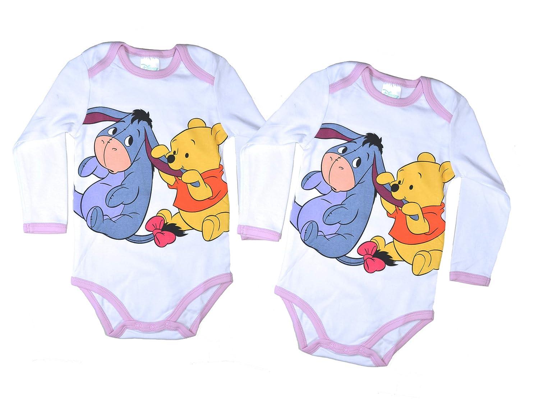 2er Pack Disney Baby Bodys mit süßen Motiv Applikationen 62 68 74 80 86 92 Säuglinge Kleinkinder