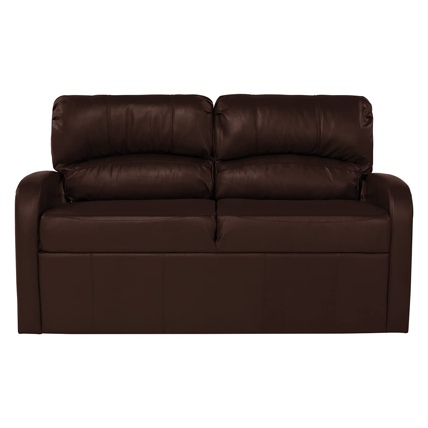 RecPro Charles Collection 70 RV Jack Knife Sofa w Arms RV Sleeper Sofa RV Couch RV Living Room Slideout Furniture RV Furniture Camper Furniture Mahogany