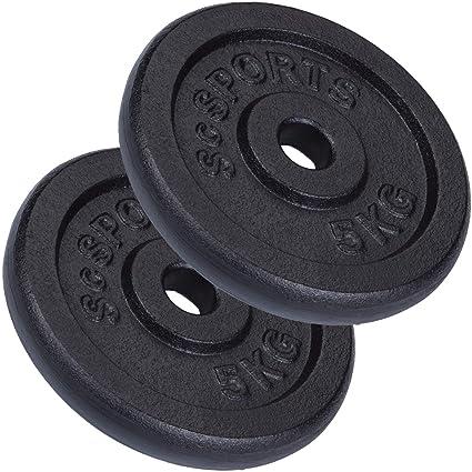 ScSPORTS® 10 kg Hantelscheiben Set 8 x 1,25 kg Hantel Gewichte 30 mm Kunststoff
