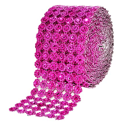 b325932799 Mandala Crafts Faux Diamond Bling Wrap, Faux Rhinestone Crystal Mesh Ribbon  Roll for Wedding, Party, Centerpiece, Cake, Vase Sparkling Decoration ...