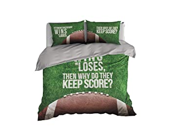 Amazoncom American Football Duvet Cover Sport Inspired Bedding