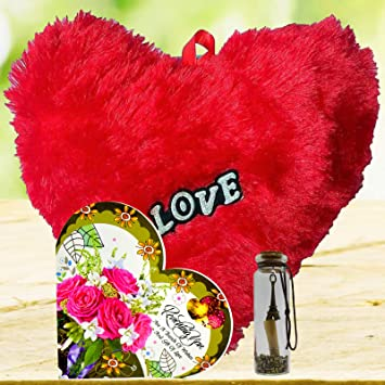 ME&YOU Romantic Gifts, Surprise Greeting Card with Message Bottle, Heart for Wife, Girlfriend, Fiance On Valentines Day, Birthday, Anniversary and Any Special Occasion IZ19Card6Msgbott2RH-001