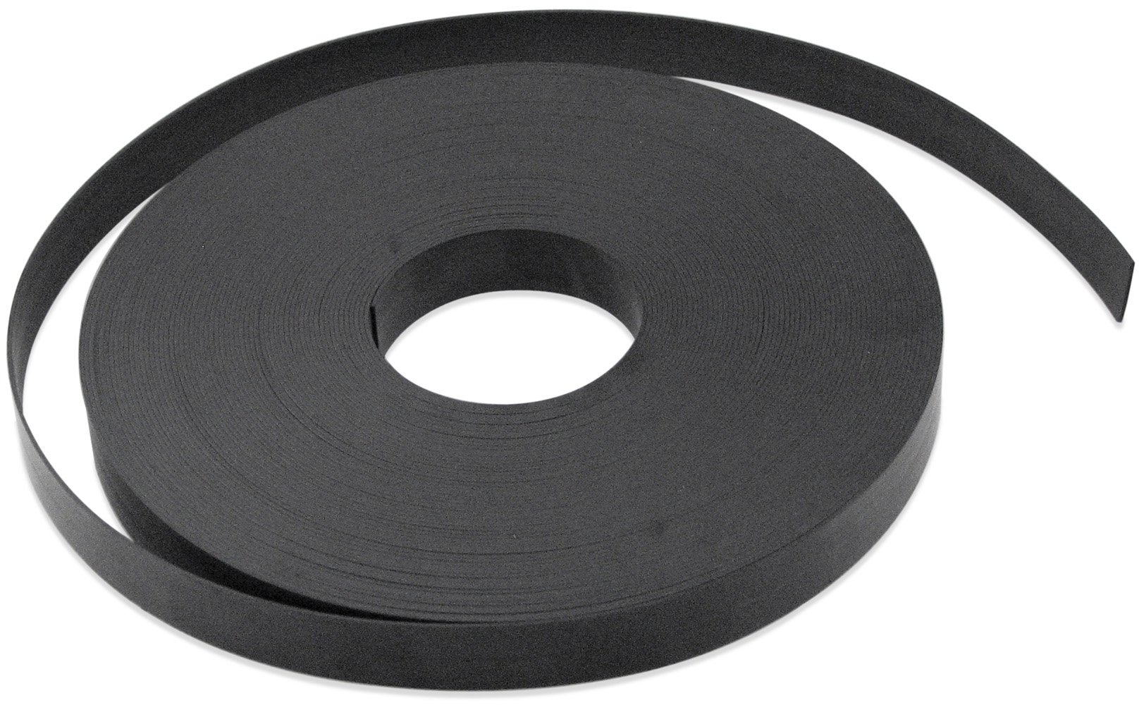 Flexible Magnet Strip, Plain, No Laminate, 1/32'' Thick, 1'' Height, 200 Feet, 1 Roll