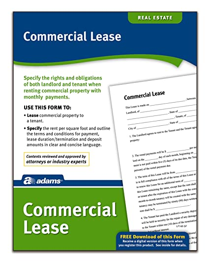 Amazoncom Adams Commercial Lease Forms And Instructions LF - Legal lease form