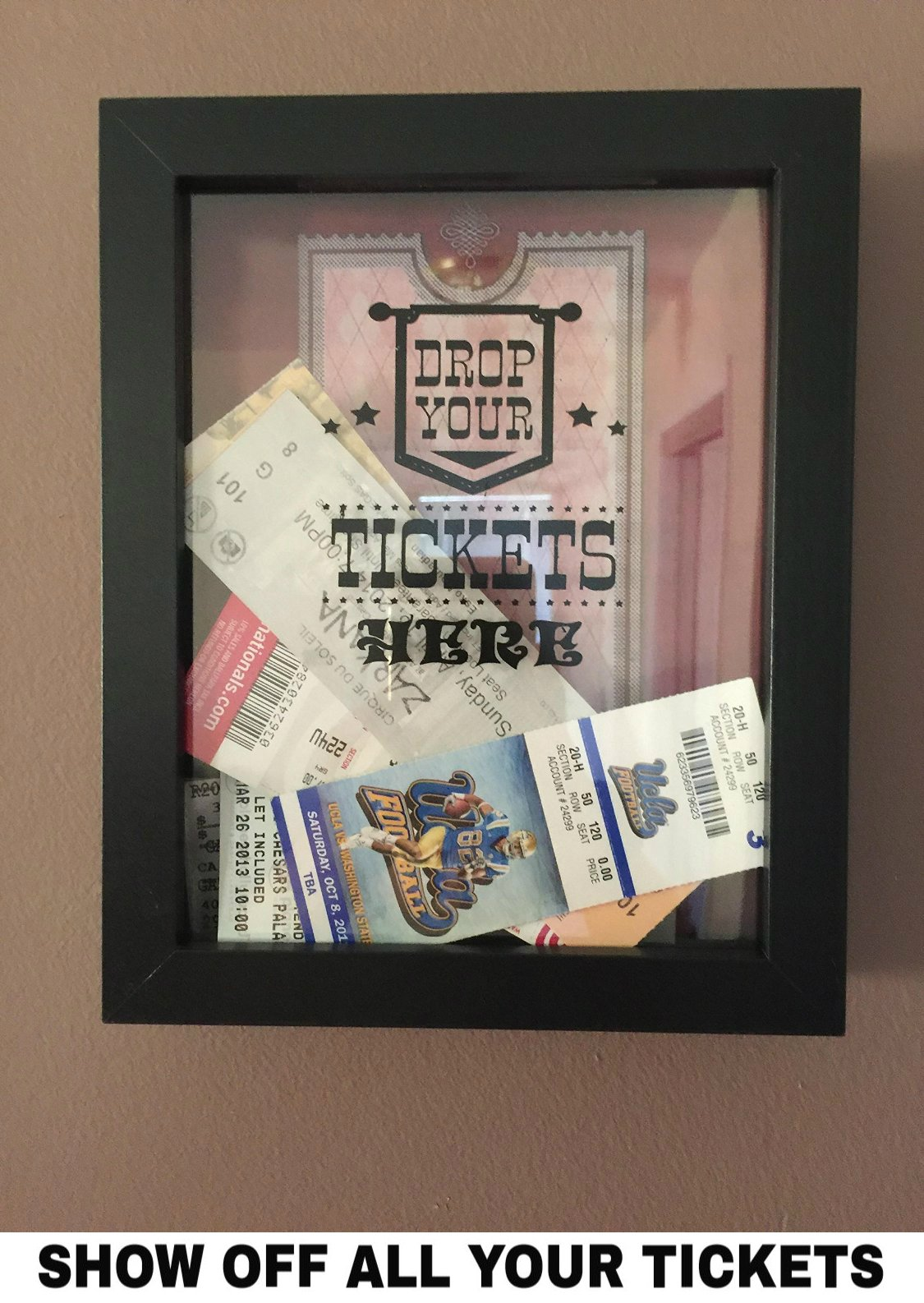 ticket shadow box memento frame large slot on top of frame memory box 762047701226 ebay. Black Bedroom Furniture Sets. Home Design Ideas