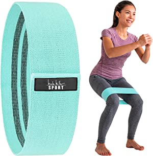 Nicole Miller Booty & Hip Resistance Band Women Sports Fitness Band for Squat Glute Hip Training Non-Slip Elastic Workout Bands