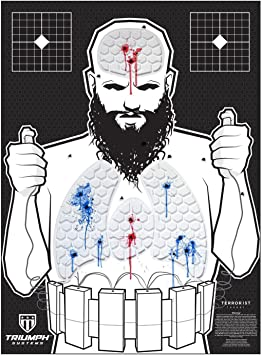 """25-pack Zombie Shooting Targets 26/"""" W x 17/"""" H"""