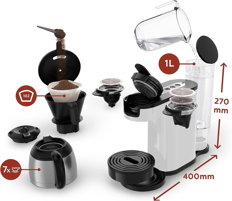 Philips Senseo HD7892//00 Freestanding Manual Combi Macchina Caff/è 1L Bianco