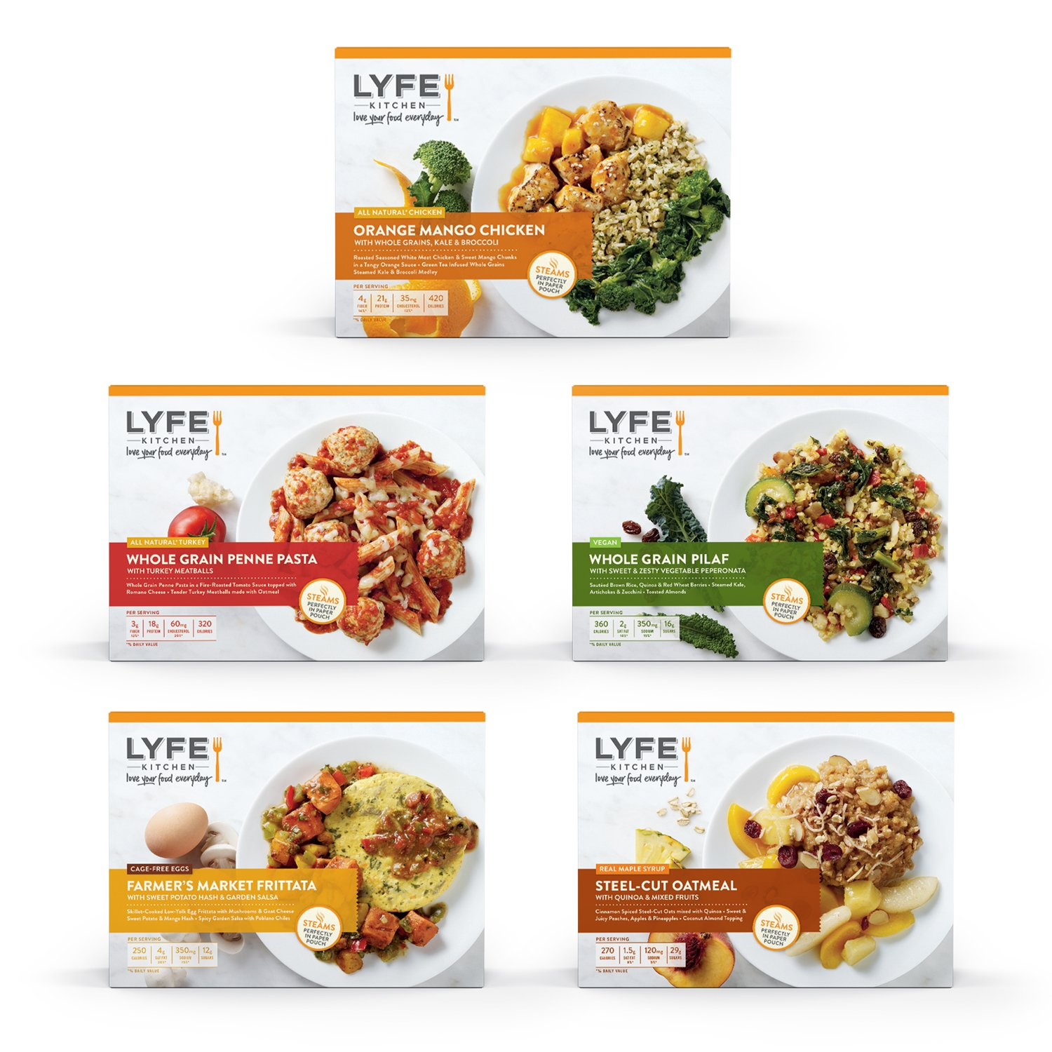 LYFE Kitchen Breakfast, Lunch and Dinner 15 Meal Variety Pack A ...