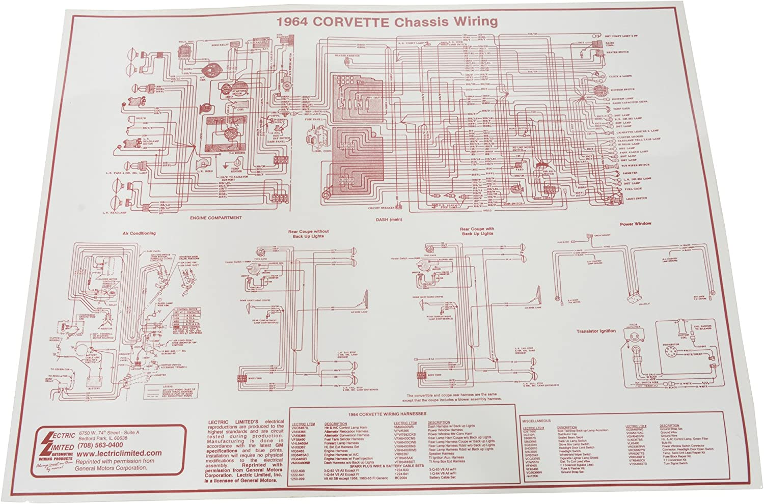 74 corvette wiring diagram amazon com 1964 corvette wiring diagram automotive  1964 corvette wiring diagram