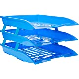 Solo TR- 113 Paper and File Tray (3 Pcs.) XL - Blue