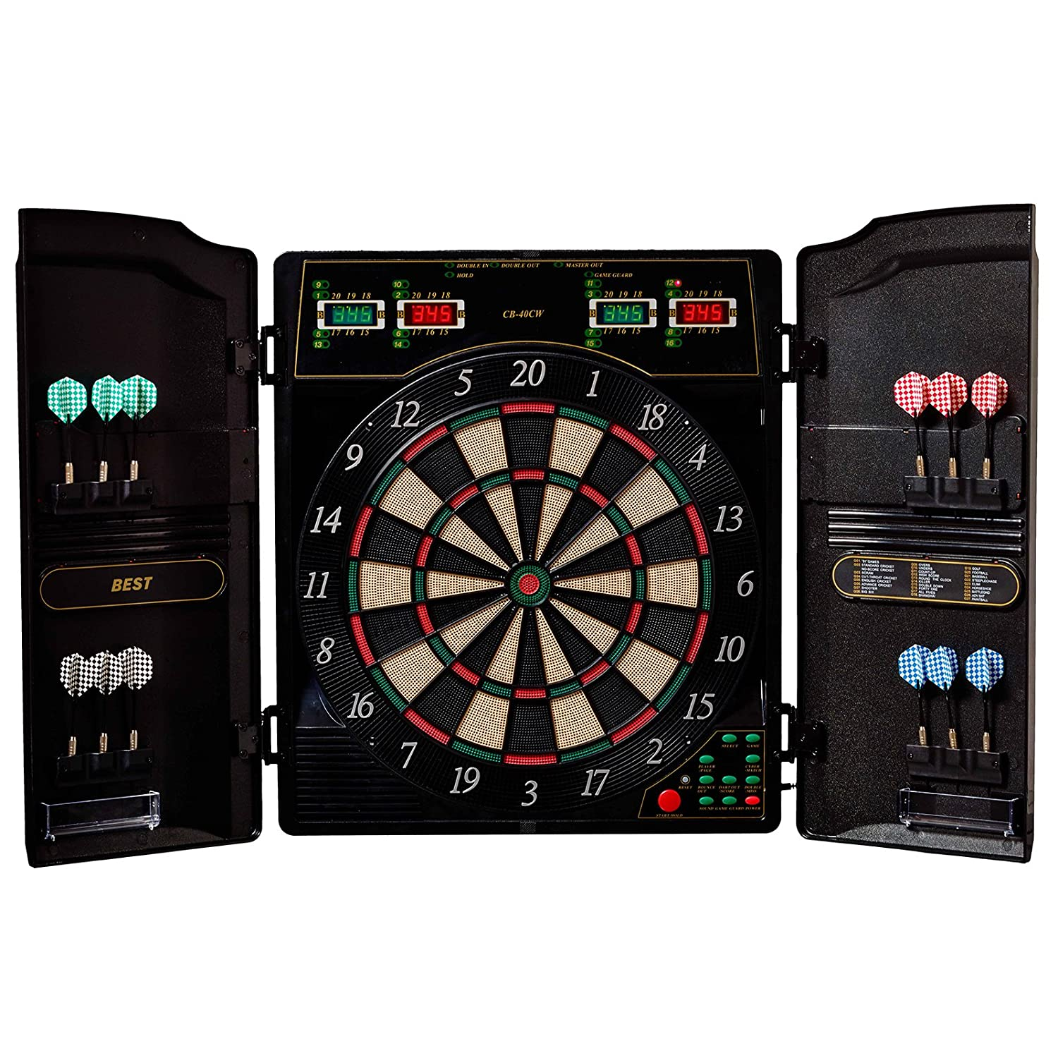Cricket Best Electronic Dartboard Dart Board Dart Cabinet Oxford 16
