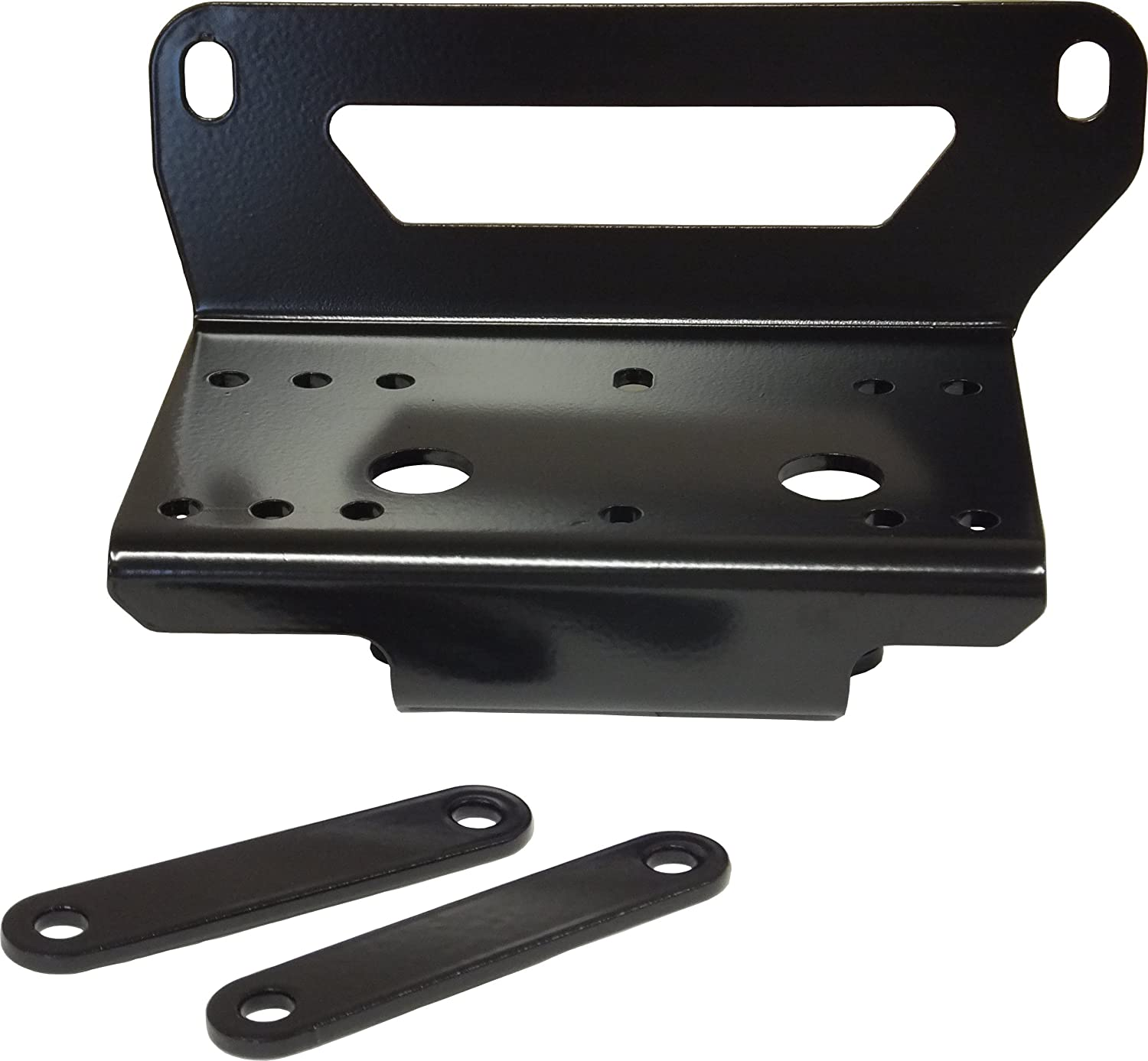 Without Factory Bumper For 3500 Lb SuperATV Heavy Duty Winch Mounting Plate for John Deere Gator RSX 850 Winches