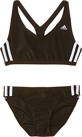 adidas Girls' Infinitex 3 Stripes Two Pieces Swimsuit