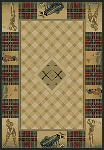 United Weavers of America Genesis Collection Classic Open Lodge Rug – 1ft. 10in. x 3ft. Multicolor Southwest Style Olefin Rug with Twisted Heatset Construction
