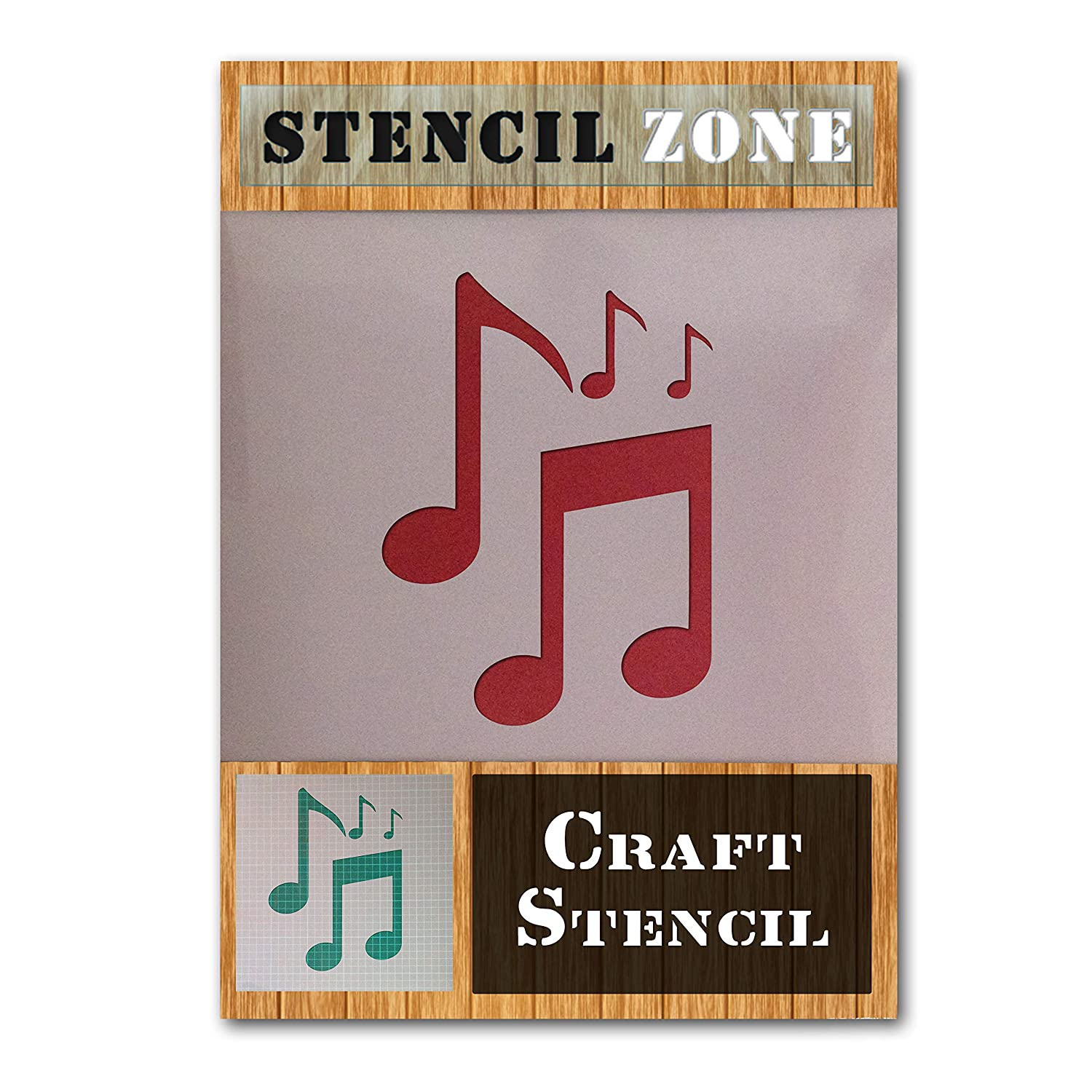 Music Notes Musical Sounds Mylar Airbrush Painting Wall Art Crafts Stencil 3-XL STENCIL ZONE