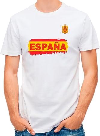LolaPix Camiseta España Personalizada con tu Nombre y Dorsal | Selección Española | Varios Diseños Tallas | 100% Algodón | Hombre | Blanca: Amazon.es: Hogar