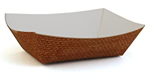 Southern Champion Tray 0562 #50 Hearthstone Clay Coated Paperboard Food Tray / Boat / Bowl, 1/2-lb Capacity (Case of 1000)