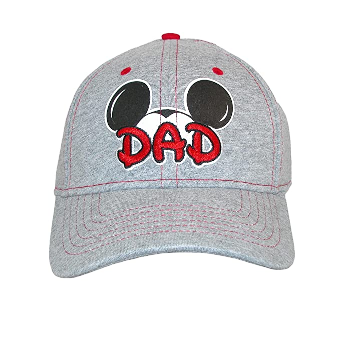9a04babf70e Disney Mens Cotton Mickey Mouse Dad Fan Baseball Cap